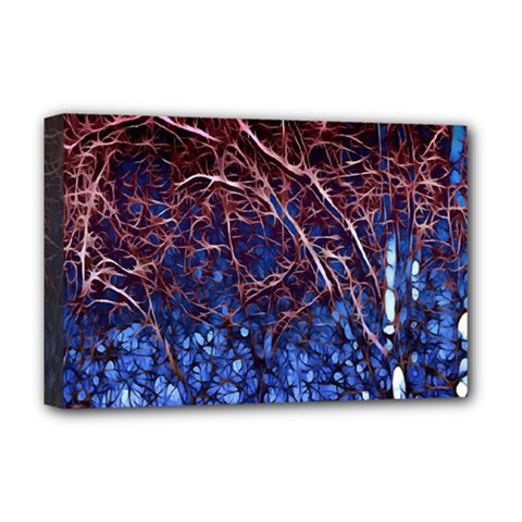Autumn Fractal Forest Background Deluxe Canvas 18  X 12