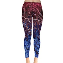 Autumn Fractal Forest Background Leggings