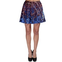 Autumn Fractal Forest Background Skater Skirt