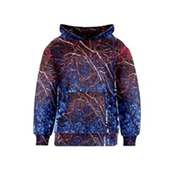 Autumn Fractal Forest Background Kids  Pullover Hoodie