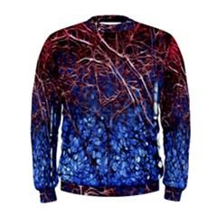 Autumn Fractal Forest Background Men s Sweatshirt