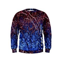 Autumn Fractal Forest Background Kids  Sweatshirt
