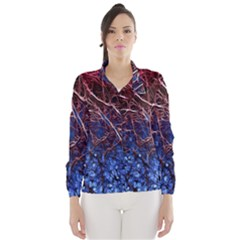 Autumn Fractal Forest Background Wind Breaker (Women)