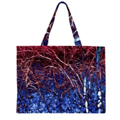 Autumn Fractal Forest Background Large Tote Bag