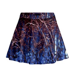 Autumn Fractal Forest Background Mini Flare Skirt