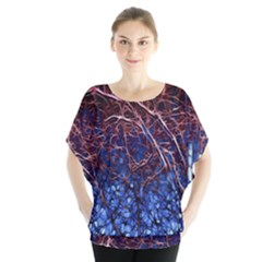 Autumn Fractal Forest Background Blouse