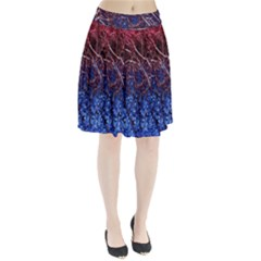 Autumn Fractal Forest Background Pleated Skirt