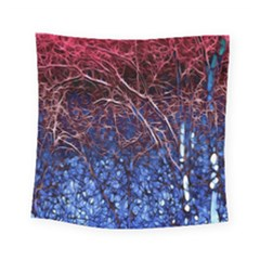 Autumn Fractal Forest Background Square Tapestry (small)