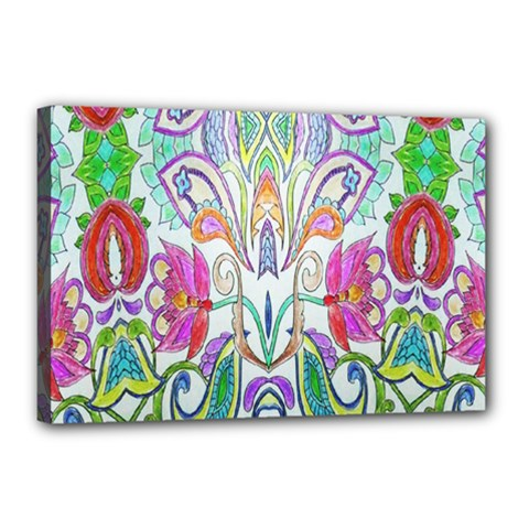 Wallpaper Created From Coloring Book Canvas 18  x 12