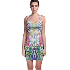 Wallpaper Created From Coloring Book Sleeveless Bodycon Dress