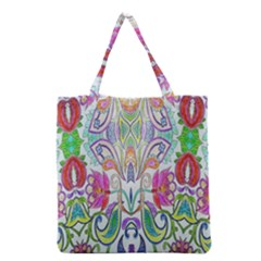 Wallpaper Created From Coloring Book Grocery Tote Bag