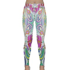 Wallpaper Created From Coloring Book Classic Yoga Leggings