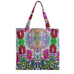 Wallpaper Created From Coloring Book Zipper Grocery Tote Bag