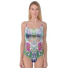 Wallpaper Created From Coloring Book Camisole Leotard