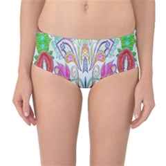 Wallpaper Created From Coloring Book Mid Waist Bikini Bottoms