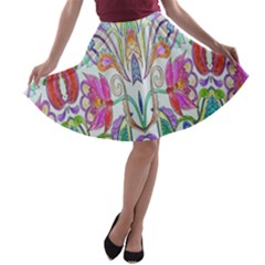 Wallpaper Created From Coloring Book A Line Skater Skirt