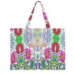 Wallpaper Created From Coloring Book Large Tote Bag