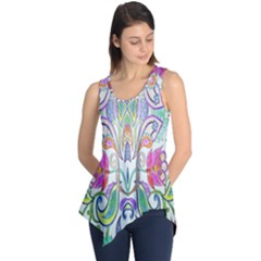 Wallpaper Created From Coloring Book Sleeveless Tunic