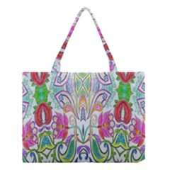 Wallpaper Created From Coloring Book Medium Tote Bag