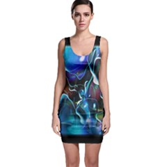 Water Is The Future Sleeveless Bodycon Dress