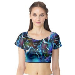 Water Is The Future Short Sleeve Crop Top (Tight Fit)