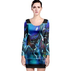 Water Is The Future Long Sleeve Bodycon Dress