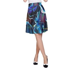 Water Is The Future A Line Skirt