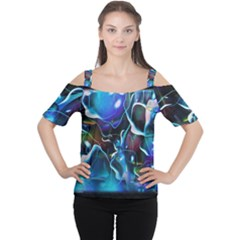 Water Is The Future Women s Cutout Shoulder Tee