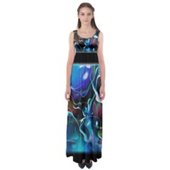 Water Is The Future Empire Waist Maxi Dress