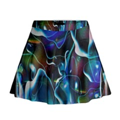 Water Is The Future Mini Flare Skirt