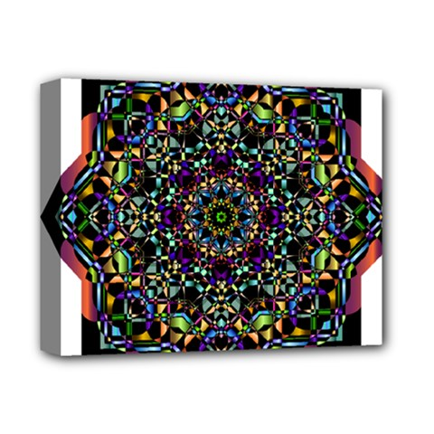 Mandala Abstract Geometric Art Deluxe Canvas 14  X 11