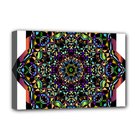 Mandala Abstract Geometric Art Deluxe Canvas 18  X 12