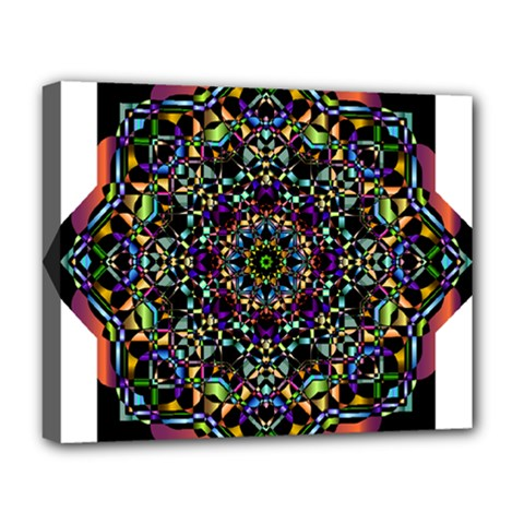 Mandala Abstract Geometric Art Deluxe Canvas 20  X 16