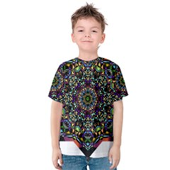 Mandala Abstract Geometric Art Kids  Cotton Tee