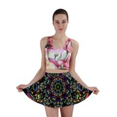Mandala Abstract Geometric Art Mini Skirt