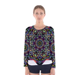 Mandala Abstract Geometric Art Women s Long Sleeve Tee