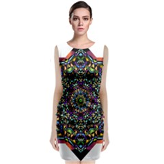 Mandala Abstract Geometric Art Classic Sleeveless Midi Dress