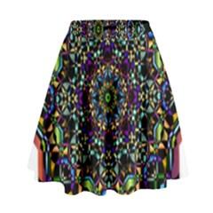 Mandala Abstract Geometric Art High Waist Skirt