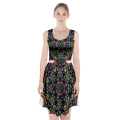 Mandala Abstract Geometric Art Racerback Midi Dress