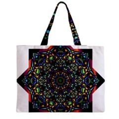 Mandala Abstract Geometric Art Medium Zipper Tote Bag