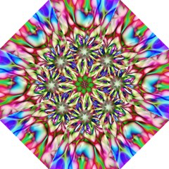 Magic Fractal Flower Multicolored Folding Umbrellas