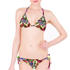 Magic Fractal Flower Multicolored Bikini Set