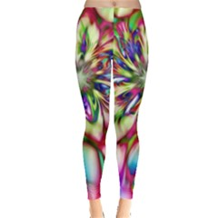 Magic Fractal Flower Multicolored Leggings