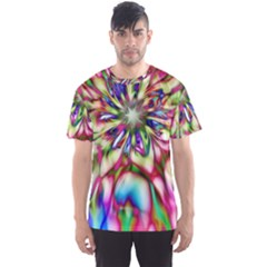 Magic Fractal Flower Multicolored Men s Sport Mesh Tee