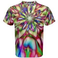 Magic Fractal Flower Multicolored Men s Cotton Tee