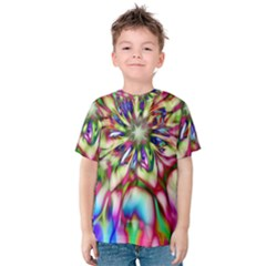 Magic Fractal Flower Multicolored Kids  Cotton Tee