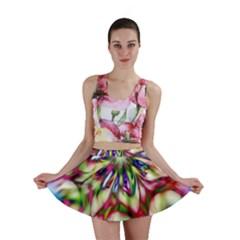 Magic Fractal Flower Multicolored Mini Skirt