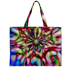 Magic Fractal Flower Multicolored Mini Tote Bag