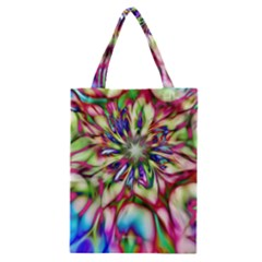 Magic Fractal Flower Multicolored Classic Tote Bag