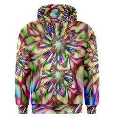 Magic Fractal Flower Multicolored Men s Pullover Hoodie